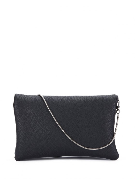 Snake Chain Crossbody Bag - BLACK  Mobile