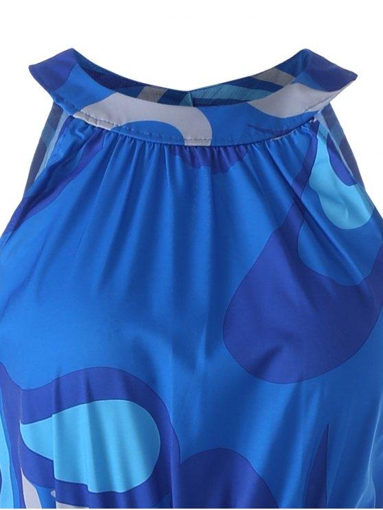 Colored Maxi Halter Beach Dress - COLORMIX S Mobile
