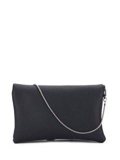 Snake Chain Crossbody Bag - Black