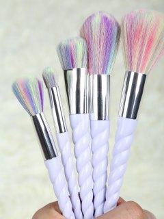 Unicorn Makeup Brushes Set - Light Purple