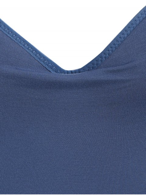 fashion Padded Camisole Bra Tank Top - DEEP BLUE M Mobile