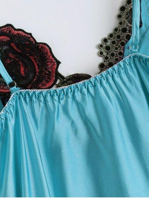 chic Slip Rose Faux Silk Babydolls - CASPIAN ONE SIZE Mobile