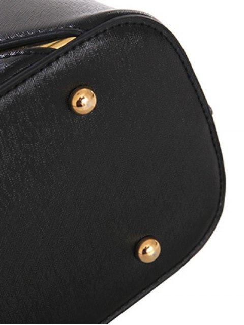 shop Metal Embellished Handbag Set - RED  Mobile