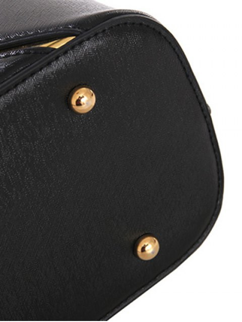 latest Metal Embellished Handbag Set - ROSE RED  Mobile