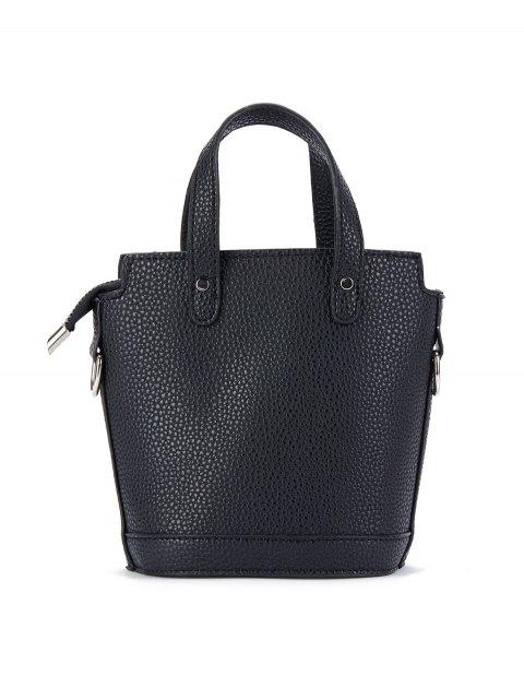 buy Textured Crossbody Handbag - BLACK  Mobile