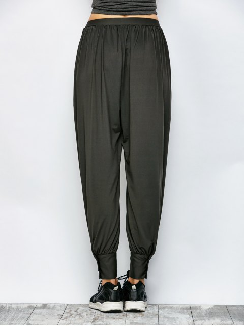 lady Loose Fit Harem Pants - DEEP GRAY 2XL Mobile