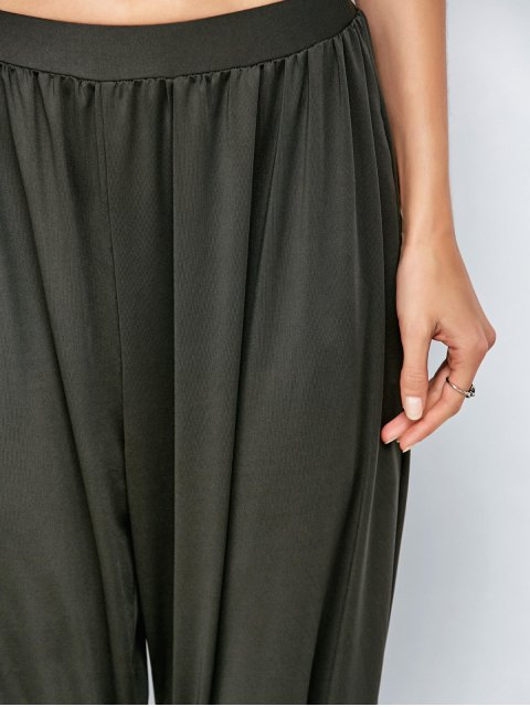 women Loose Fit Harem Pants - DEEP GRAY L Mobile