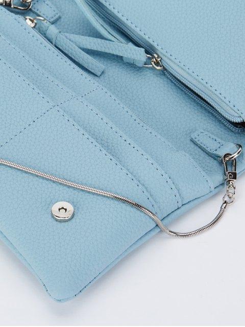 chic Snake Chain Crossbody Bag - BLUE  Mobile