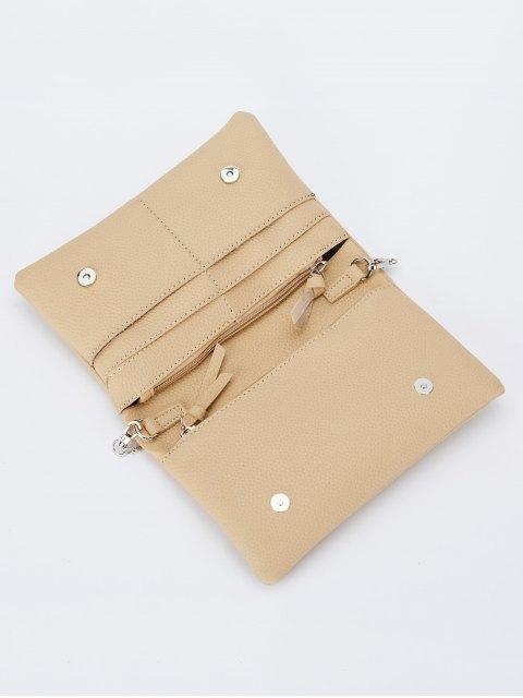fancy Snake Chain Crossbody Bag - APRICOT  Mobile
