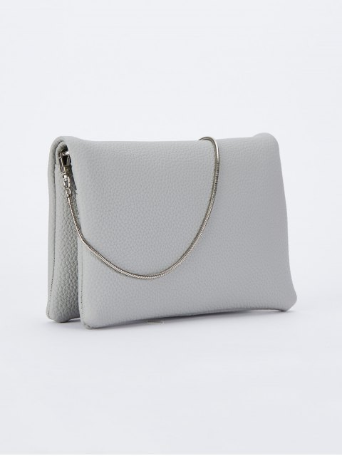 unique Snake Chain Crossbody Bag - GRAY  Mobile