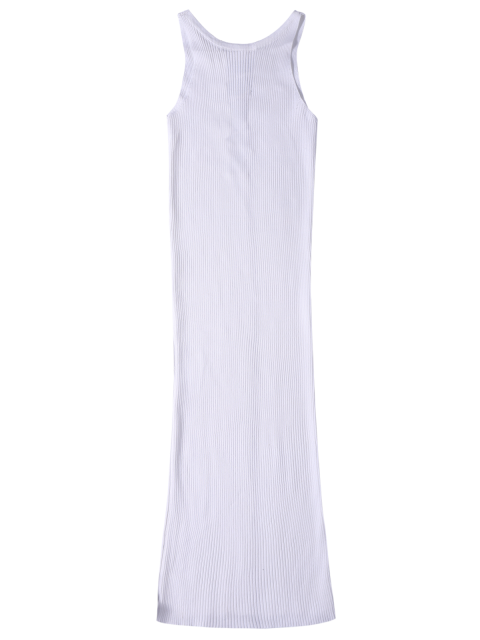 shops Sleeveless Ribbed Knit Bodycon Dress - WHITE ONE SIZE Mobile