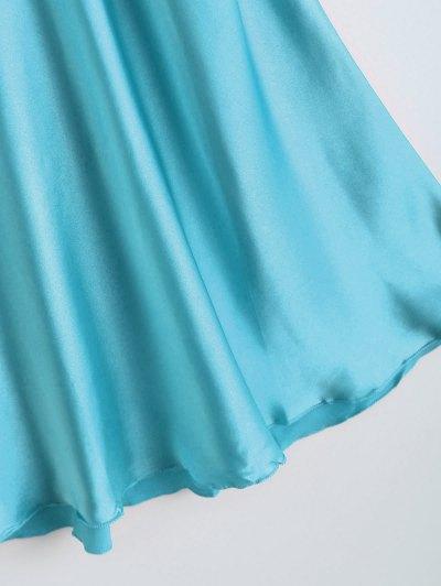 Slip Rose Faux Silk Babydolls - CASPIAN ONE SIZE Mobile