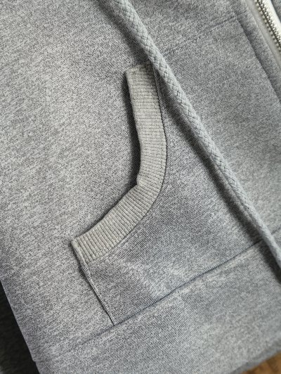 Hooded Cropped Jacket - GRAY 2XL Mobile