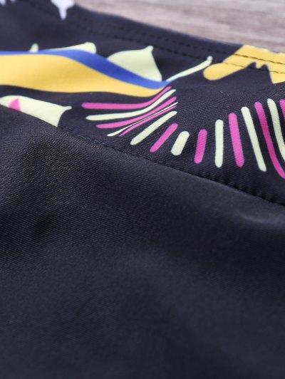 Geometric Panel Bikini Set - YELLOW M Mobile