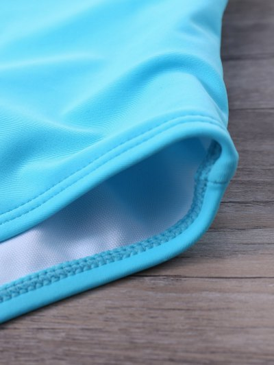 Strappy One-Piece Swimwear - BLUE M Mobile