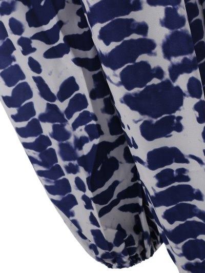 Cami Tie Dye Beach Jumpsuit - BLUE L Mobile