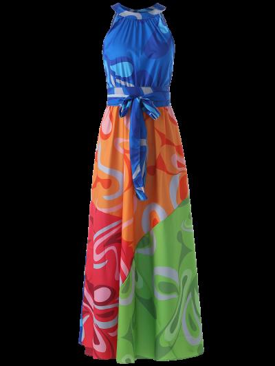 الملونة ماكسي الرسن شاطئ اللباس - Colormix S