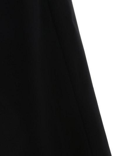 Plunge Keyhole Wide Leg Palazzo Jumpsuit - BLACK 2XL Mobile