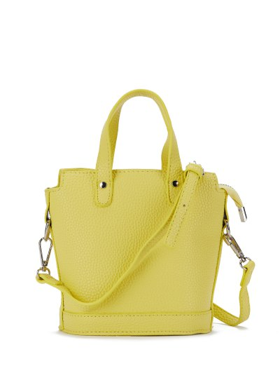 Textured Crossbody Handbag - YELLOW  Mobile
