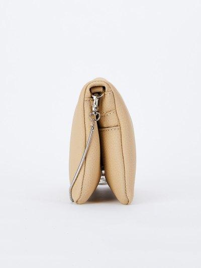 Snake Chain Crossbody Bag - APRICOT  Mobile