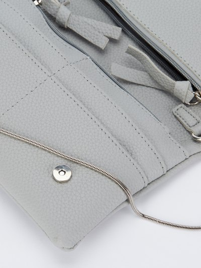 Snake Chain Crossbody Bag - GRAY  Mobile