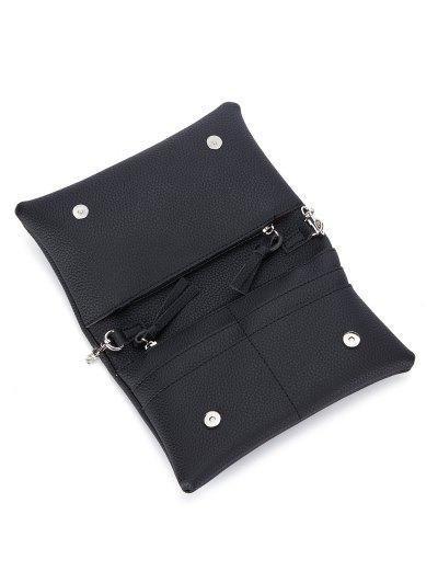 Snake Chain Crossbody Bag - BLACK  Mobile