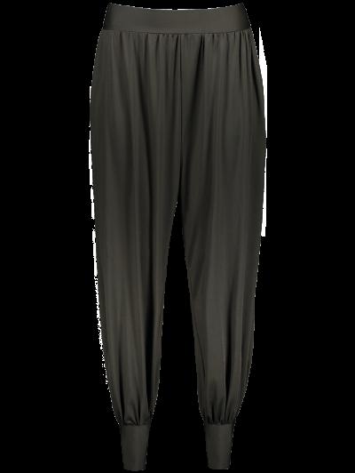 Loose Fit Harem Pants - DEEP GRAY L Mobile