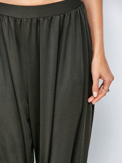Loose Fit Harem Pants - DEEP GRAY S Mobile