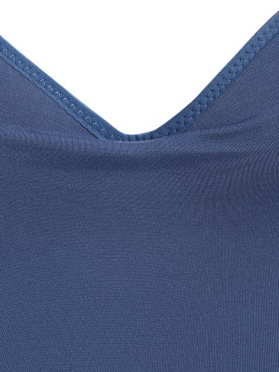 Padded Camisole Bra Tank Top - DEEP BLUE M Mobile