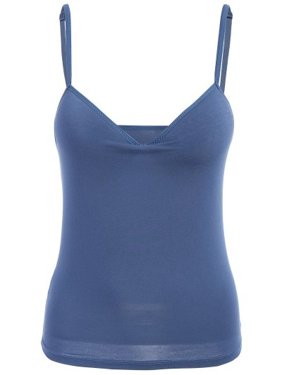 Padded Camisole Bra Tank Top - DEEP BLUE L Mobile