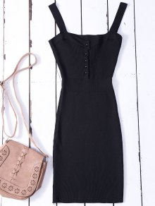 Wide Strap Bodycon Sweater Dress