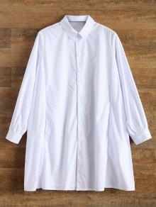 Trapeze Boyfriend Shirt - White L