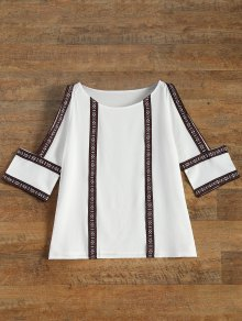Embroidered Cold Shoulder Blouse - White