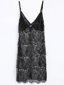 Sheer Lace Slip Babydoll Dress Lingeries