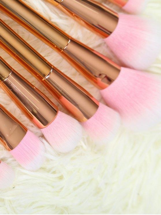 Plating Makeup Brushes Set - ROSE GOLD  Mobile