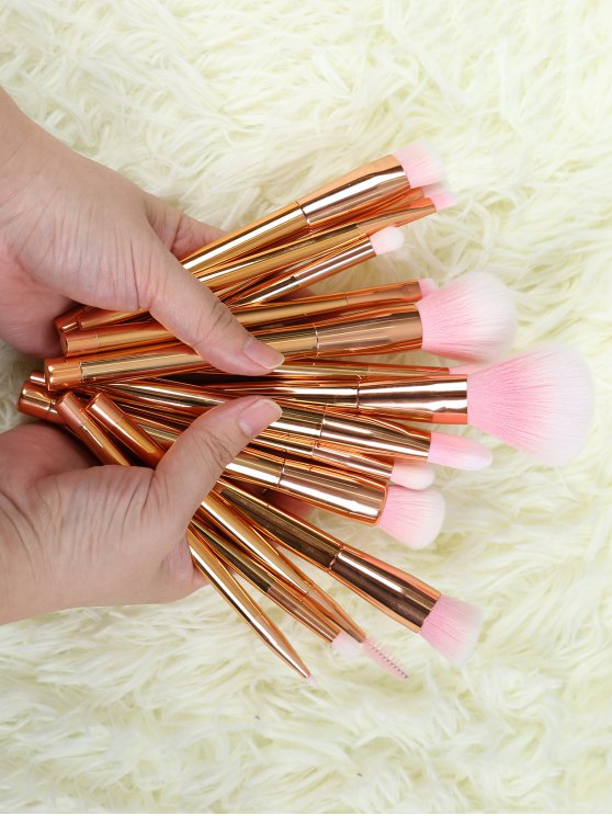 new Plating Makeup Brushes Set - ROSE GOLD