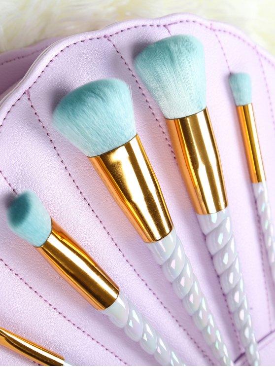 Fiber Unicorn Makeup Brushes Set - WHITE  Mobile