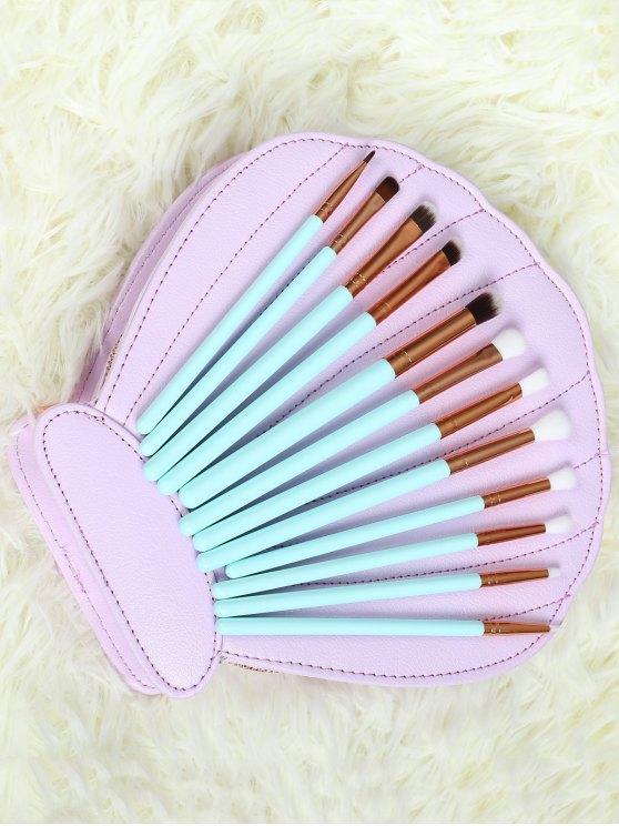 Eye Nylon Makeup Brushes Set - BLUE  Mobile