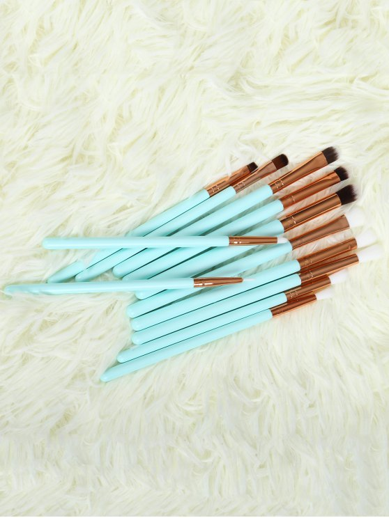 outfit Eye Nylon Makeup Brushes Set - BLUE