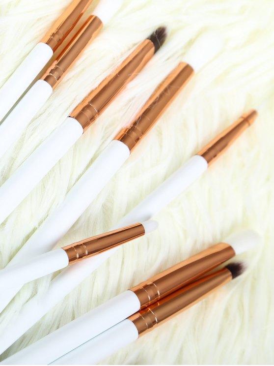 Eye Nylon Makeup Brushes Set - WHITE  Mobile