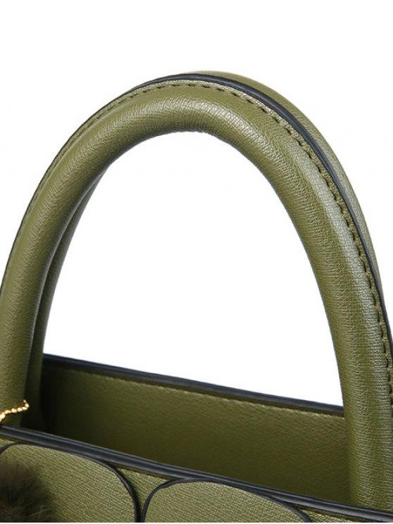 Patches Winged Pompon Detail Handbag -   Mobile