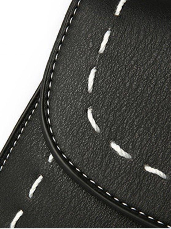 Stiching Buckle Strap Handbag - PINK  Mobile