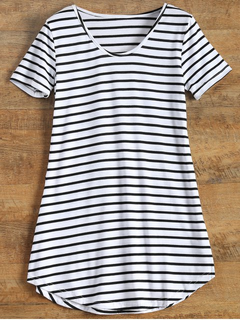 womens Stripes Tunic T-Shirt - STRIPE S Mobile