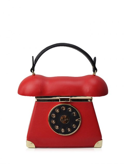 hot Novelty Telephone Shaped Evening Bag - RED  Mobile
