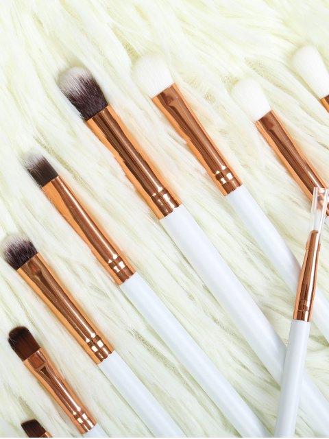 outfits Eye Nylon Makeup Brushes Set - WHITE  Mobile