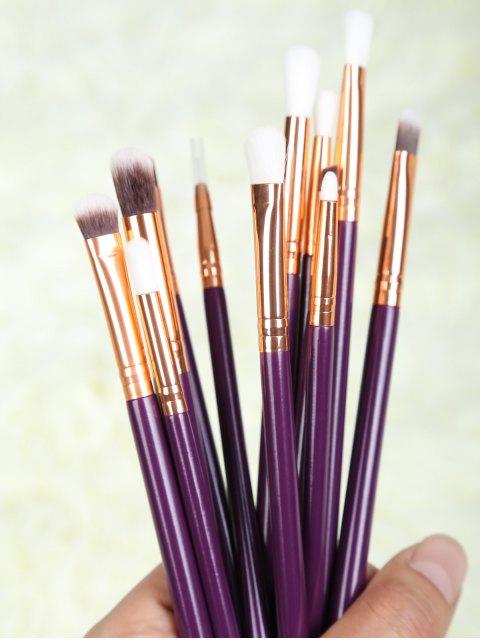 shop Eye Nylon Makeup Brushes Set - PURPLE  Mobile