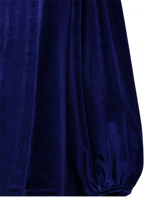 online Spaghetti Straps Cold Shoulder Velvet Top - ROYAL M Mobile