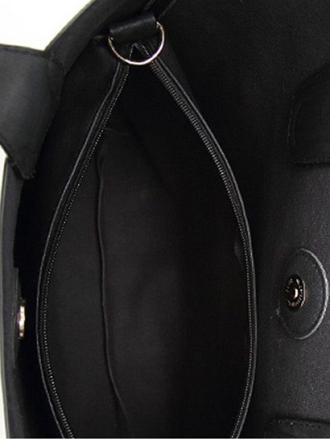 women's Casual Tote Bag with Interior Bag - BLACK  Mobile