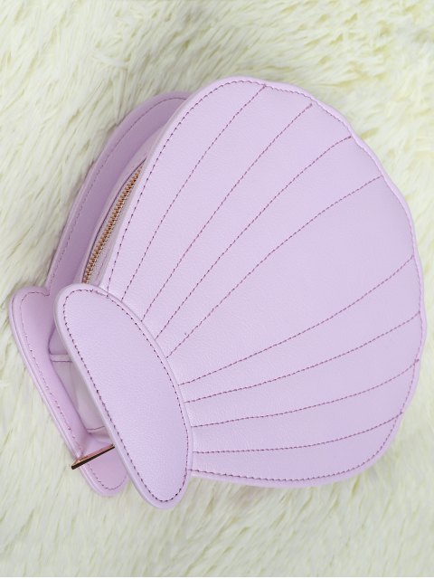 outfits Scallop Brush Bag - LIGHT PURPLE  Mobile