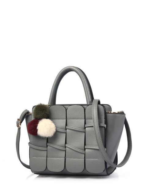 hot Patches Winged Pompon Detail Handbag -   Mobile